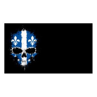 Quebec Dripping Splatter Skull Business Card