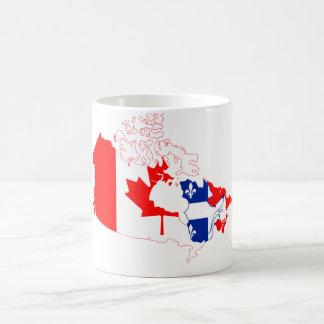 Quebec en la bandera de Canadá, mapa Taza Clásica