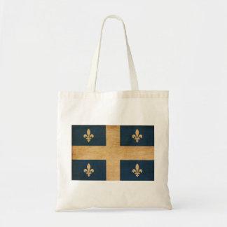 Quebec Flag Budget Tote Bag