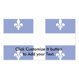 Quebec flag business card template