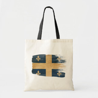 Quebec Flag Canvas Bags