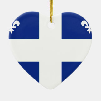 Quebec Flag Ceramic Ornament
