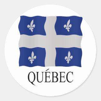 Québec flag classic round sticker