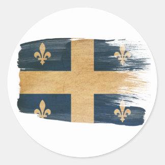 Quebec Flag Classic Round Sticker