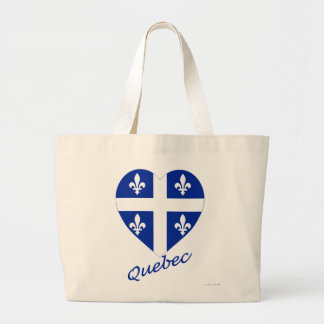 Quebec Flag Heart with Name Tote Bag