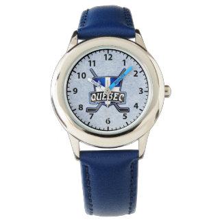 Quebec Flag Hockey Logo Wrist Watch