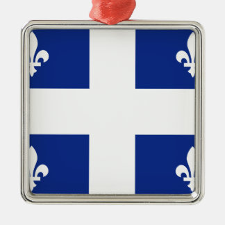 Quebec Flag Metal Ornament