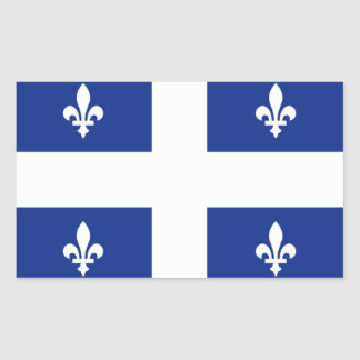 """Quebec"" Flag Rectangular Sticker"