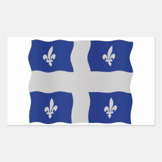 Québec flag rectangular sticker