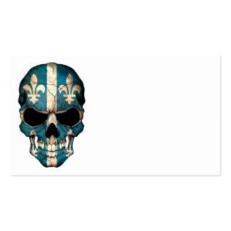 Quebec Flag Skull Business Cards