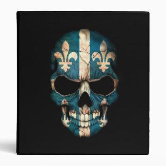 Quebec Flag Skull on Black Binders