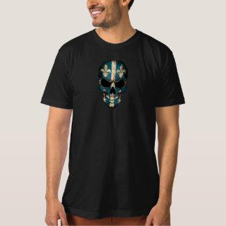 Quebec Flag Skull T-Shirt