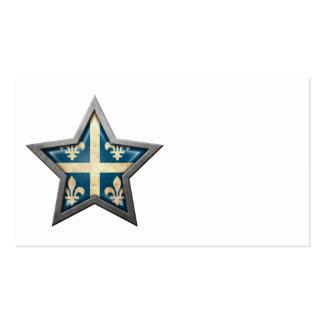 Quebec Flag Star Business Card