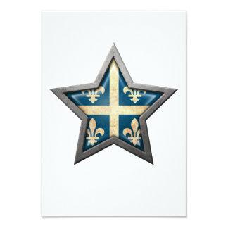 Quebec Flag Star 3.5x5 Paper Invitation Card