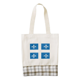 Quebec Flag Zazzle HEART Tote Bag