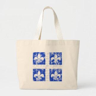 Quebec Fleur-de-lis Light Tote Bag