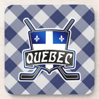 Quebec Hockey Flag Logo Cork Coasters