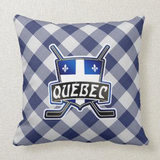 Quebec Hockey Logo Throw Pillow