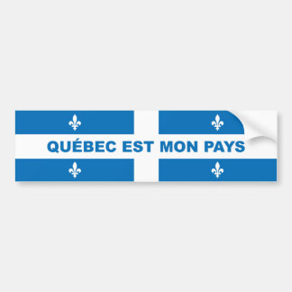 QUEBEC IS MY COUNTRY CAR BUMPER STICKER
