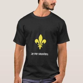 Quebec, Je me souviens T-Shirt