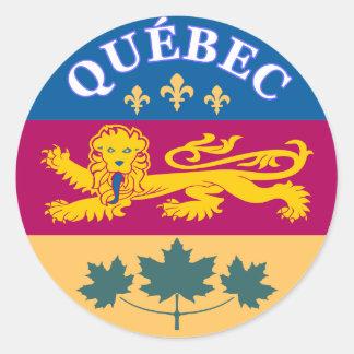 Quebec, La Belle Province Pegatina Redonda