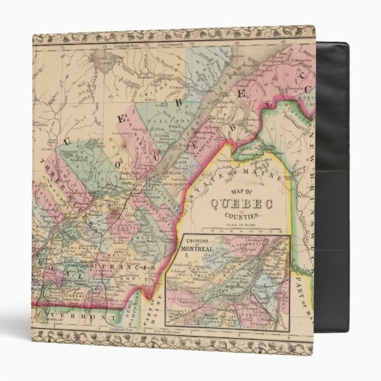 Quebec Map by Mitchell 3 Ring Binder