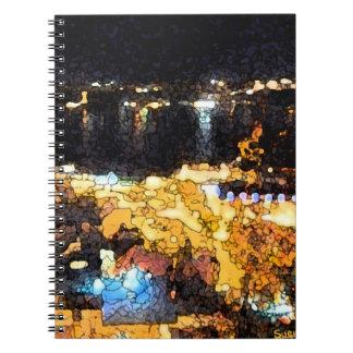 Quebec night view spiral notebook