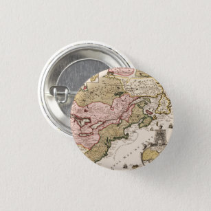 Quebec/Nouvelle-France medieval french map America Button