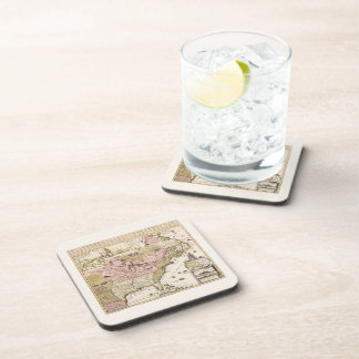 Quebec/Nouvelle-France medieval french map America Coaster