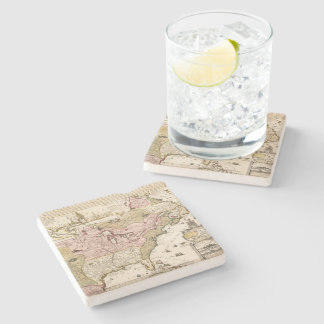 Quebec/Nouvelle-France medieval french map America Stone Coaster