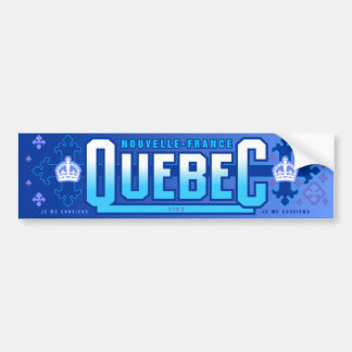 Québec. Nouvelle-Francia Pegatina De Parachoque