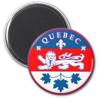 Québec. Nouvelle-Francia Imán Redondo 5 Cm