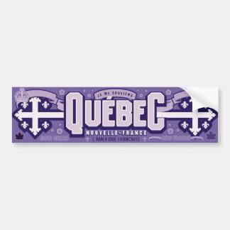 Québec. Nouvelle-Francia Pegatina Para Auto