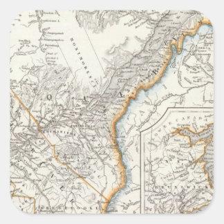 Quebec, Nueva Escocia, Nuevo Brunswick Pegatina Cuadrada