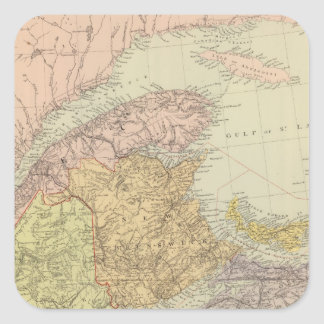 Quebec, Nuevo Brunswick, Nueva Escocia Pegatina Cuadrada