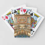 Quebec organ playing cards bicycle playing cards