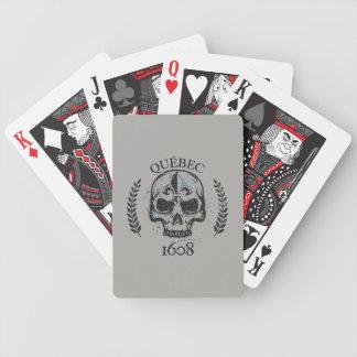 Quebec patriot 1608 grunge metal Referendum YES Bicycle Playing Cards