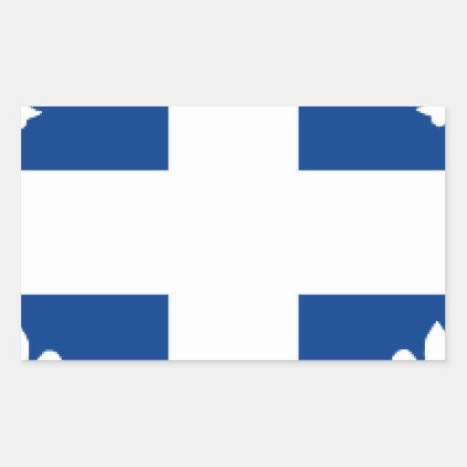 Quebec Pegatina Rectangular