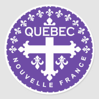 Québec Pegatina Redonda