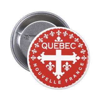 Québec Pin Redondo De 2 Pulgadas