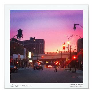 Quebec postcard - Sunset Mile-End