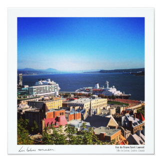 Quebec postcard - the St. Lawrence