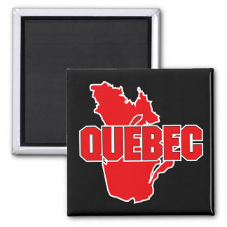 Quebec Province 2 Inch Square Magnet
