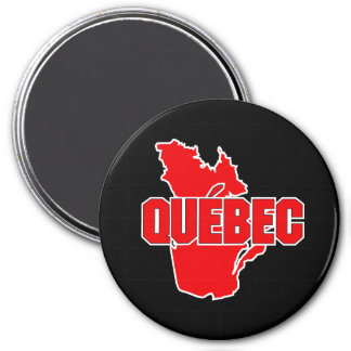 Quebec Province 3 Inch Round Magnet