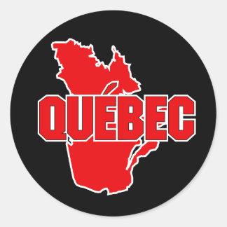 Quebec Province Classic Round Sticker