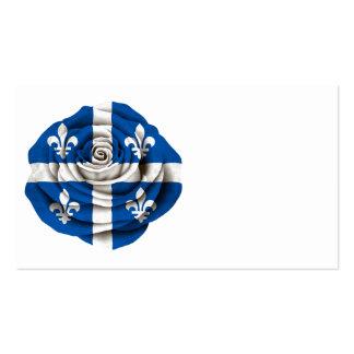 Quebec Rose Flag Business Cards