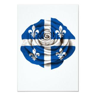 Quebec Rose Flag 3.5x5 Paper Invitation Card