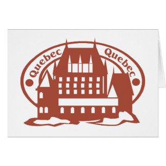 Quebec Stamp Greeting Card