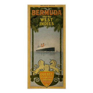 Quebec Steamship Co. Ancient bermuda shorts Advert Poster