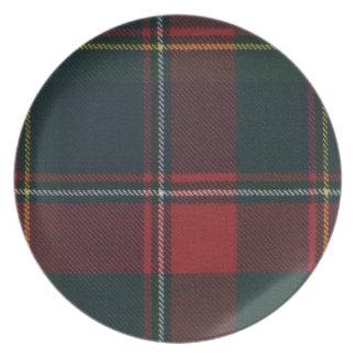 Quebec Tartan Melamine Dinner Plate